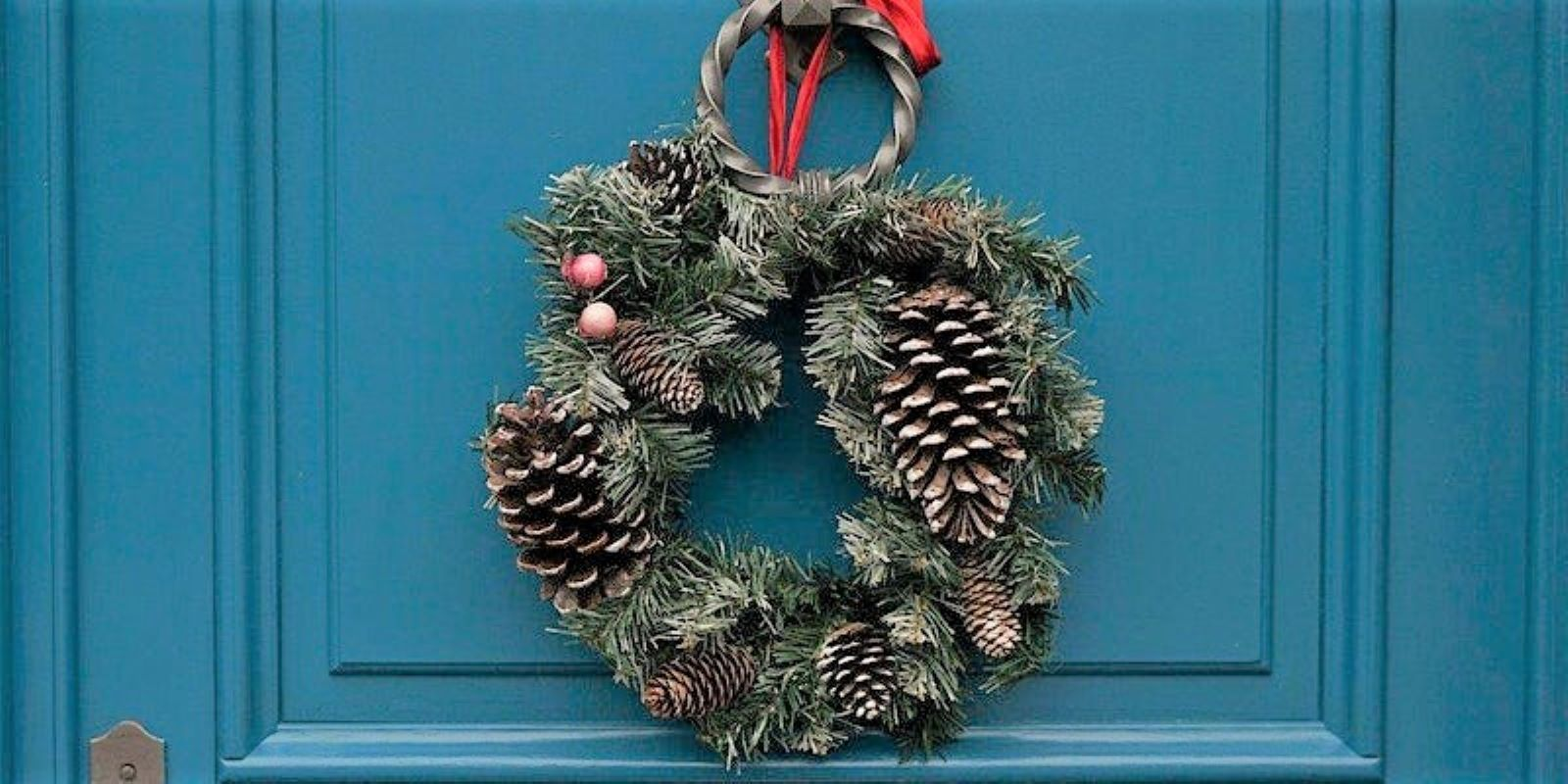 Christmas Door Wreath Making Demonstration
